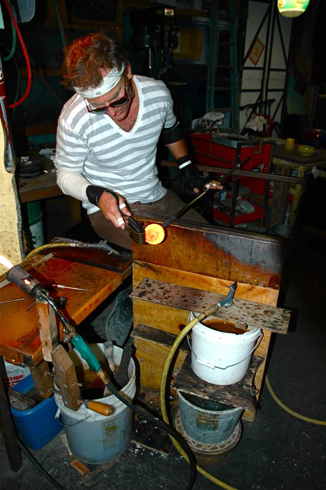 Blowing glass the Mooney way!